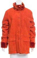 Luciano Barbera Shearling Mock Collar Jacket