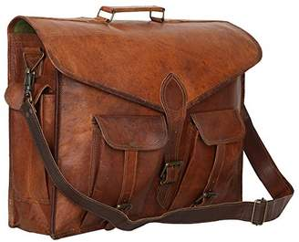 Habiller Unisex Genuine Leather Laptop Business Briefcase Inch 12 Ltr. Vintage Brown- (MESS101)