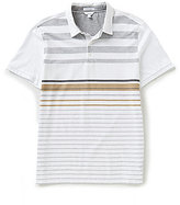 Calvin Klein Refined Engineered Striped Short-Sleeve Polo Shirt