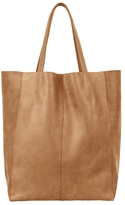 Avi Leather Tote In Saddle