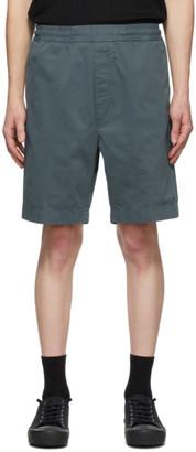 Acne Studios Green Cotton Twill Shorts