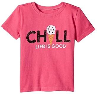 Life is Good Chill Cone Crushertm Tee (Toddler) (Fiesta Pink) Kid's T Shirt