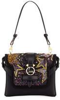 Christian Louboutin Rubylou Piste aux Etoiles Small Calf Leather Shoulder Bag