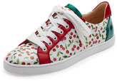 Christian Louboutin Seava Cherry-Print Low-Top Sneaker, Multi