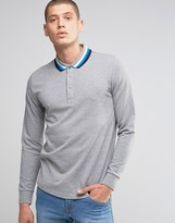 Ellesse Italia Knitted Long Sleeve Polo Shirt