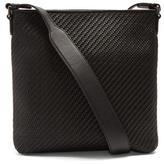 Ermenegildo Zegna Pelle Tessuta leather cross-body bag