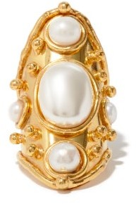 Sylvia Toledano Bizance Pearl And Gold-plated Brass Ring - Pearl