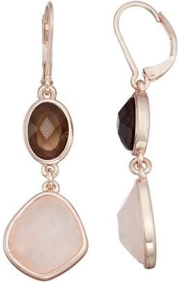 Dana Buchman Abalone Double Drop Earrings