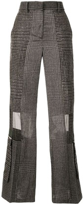 Sacai Plaid Print Trousers