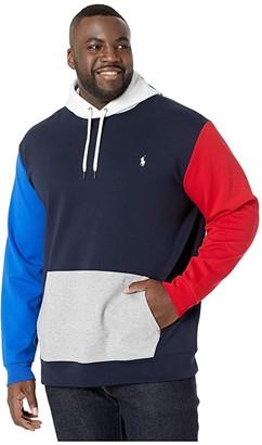 Polo Ralph Lauren Big & Tall Color Block Double Knit Tech Hoodie (Aviator Navy Multi) Men's Clothing