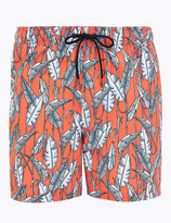 Marks and Spencer Quick Dry Leaf Print Swim Shorts