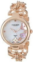 Akribos XXIV Women's AK645RG Lady Diamond Quartz Rose Gold-Tone Bracelet Watch