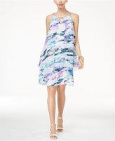 Thalia Sodi Maya Chiffon-Overlay Shift Dress, Only at Macy's