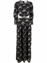 Thumbnail for your product : BA&SH Floral-Print Cut-Out Dress