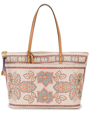 Etro Floral-Embroidery Tote Bag
