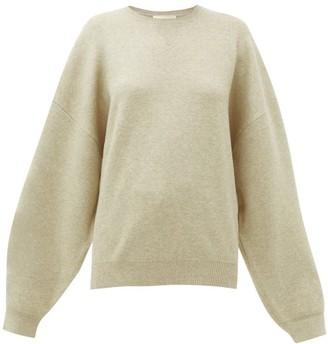Roksanda Karuo Dropped-sleeve Sweatshirt - Womens - Beige