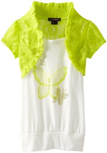 My Michelle Girls 7-16 Short Sleeve Printed Top
