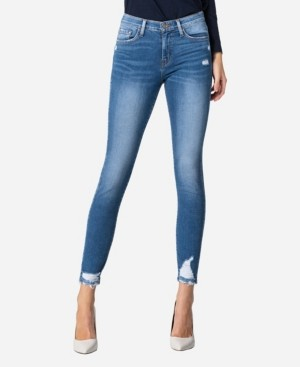 Flying Monkey Mid Rise Cuffed Skinny Ankle Jeans