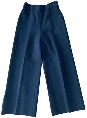 DELPOZO Blue Trousers for Women