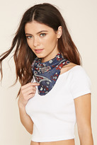 Forever 21 FOREVER 21+ Paisley Chambray Scarf