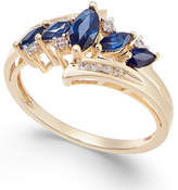 Macy's Sapphire (3/4 ct. t.w.) & Diamond (1/10 ct. t.w.) in 14k Gold (Also in Emerald, Tanzanite and Certified Ruby)