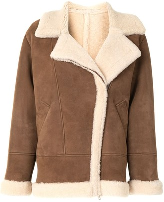 Blancha Oversized Aviator-Style Jacket
