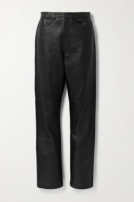 Proenza Schouler White Label Leather Straight-leg Pants - Black