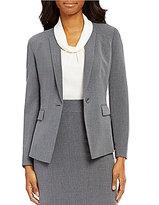Alex Marie Milo Bi-Stretch Notch Collar Long Sleeve One-Button Jacket