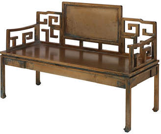 "Jamie Young Dream 51"" Settee - Antiqued Bronze"
