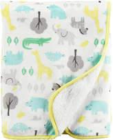 Carter's Baby Girl 30 x 40 Reversible Patterned Sherpa Blanket