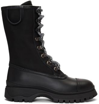 Prada Black Laced Combat Boots