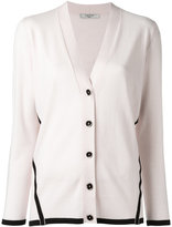 Lanvin contrast trim cardigan - women - Wool - S