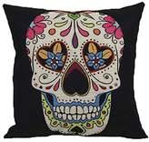 Pillow cover - SODIAL(R)Vintage Skull Pillowcover Skull Cushion New