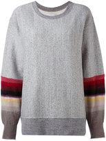 Facetasm stripe sleeve jumper