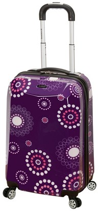 "Rockland Vision 20"" Spinner Suitcase - Purple Pearl"