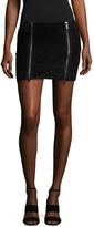 Anine Bing Women's Suede Biker Skirt