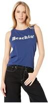 Original Retro Brand The Beachin' Slub Tank Top (Cobalt Blue) Women's T Shirt