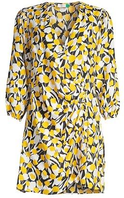 Rixo Sam Floral Silk Cotton Dress