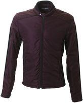 Dolce & Gabbana Burgundy And Black Nylon And Wool Jacket