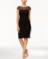 MSK Beaded Ruched Sheath Dress