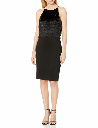 Halston Women's Fringe Dress