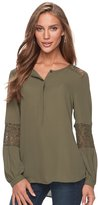 Apt. 9 Women's Lace-Trim Henley Top