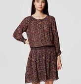 LOFT Petite Hydrangea Blouson Dress