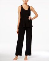 Thalia Sodi Lace-Trimmed Knit Pajama Set, Only at Macy's