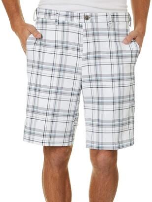 Haggar Men's Cool 18 PRO Stretch Seersucker Plaid Waist Short