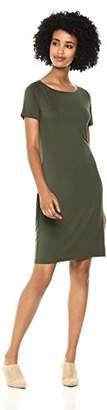 Amazon Brand - Daily Ritual Women's Jersey Short-Sleeve Bateau-Neck T-Shirt Dress
