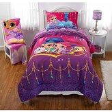 4 Piece Girls Pink Purple Shimmer Shine Comforter Full Set, Blue Genie Magic Rug Tala Nahal Kids Bedding, Magic Wonders Jewelry Pattern Nickelodeon Cartoon Character, Adventures Teen Themed, Polyester