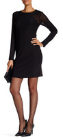 Laundry by Shelli Segal Long Sleeve Dress with Mesh Detail