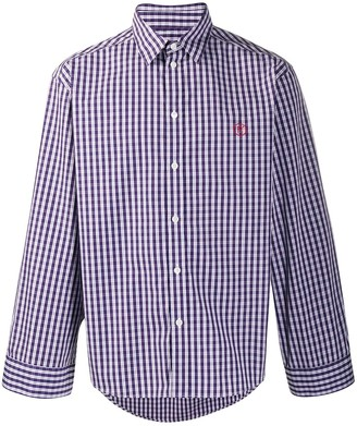 Martine Rose Check-Print Logo Shirt