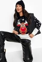 boohoo Reiny Reindeer Christmas Jumper